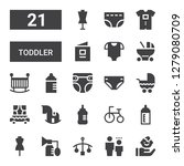 toddler icon set. collection of ... | Shutterstock .eps vector #1279080709