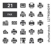 fax icon set. collection of 21... | Shutterstock .eps vector #1279084099