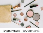 top view composition with... | Shutterstock . vector #1279090843