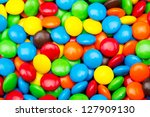 close up of a pile of colorful... | Shutterstock . vector #127909130