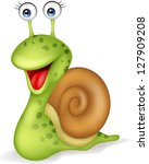 Snail cartoon - stock vector