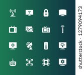 remote icon set. collection of... | Shutterstock .eps vector #1279094173