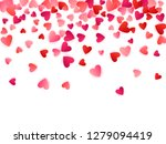 ruby red flying hearts bright... | Shutterstock .eps vector #1279094419