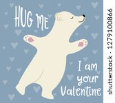 cute valentine's day card with... | Shutterstock .eps vector #1279100866
