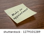 sticky note with the text make... | Shutterstock . vector #1279101289