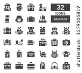 baggage icon set. collection of ... | Shutterstock .eps vector #1279105819