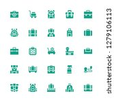 baggage icon set. collection of ... | Shutterstock .eps vector #1279106113
