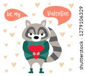 valentine's day card with... | Shutterstock .eps vector #1279106329