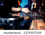 music concepts. dj is rhythm... | Shutterstock . vector #1279107109