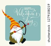 gnome with cupid bow. valentine'... | Shutterstock .eps vector #1279108219