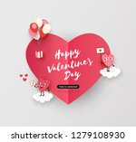 happy valentines day card ... | Shutterstock .eps vector #1279108930