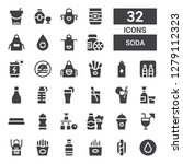 soda icon set. collection of 32 ... | Shutterstock .eps vector #1279112323