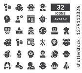 avatar icon set. collection of... | Shutterstock .eps vector #1279112326