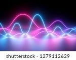 3d render  neon light  laser... | Shutterstock . vector #1279112629