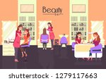 beauty bar with nail master and ... | Shutterstock .eps vector #1279117663
