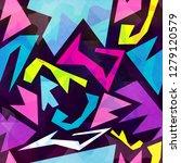 graffiti background seamless...   Shutterstock . vector #1279120579