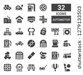 automotive icon set. collection ... | Shutterstock .eps vector #1279133503