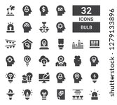 bulb icon set. collection of 32 ...   Shutterstock .eps vector #1279133896