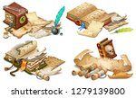 set isometric books of magic...