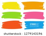 vector set of hand drawn marker ... | Shutterstock .eps vector #1279143196