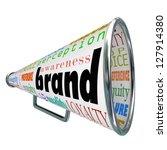 a bullhorn or megaphone... | Shutterstock . vector #127914380