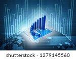 3d rendering stock market...   Shutterstock . vector #1279145560