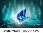 3d rendering stock market...   Shutterstock . vector #1279145599