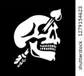 white skull valentine's day... | Shutterstock .eps vector #1279154623