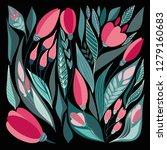 tender spring bright rustic... | Shutterstock .eps vector #1279160683