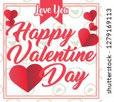 vector valentine's day cards...   Shutterstock .eps vector #1279169113
