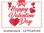 vector valentine's day cards... | Shutterstock .eps vector #1279169143