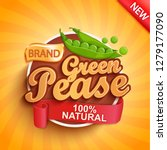 fresh green pease logo  label... | Shutterstock .eps vector #1279177090