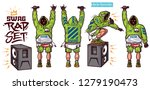 swag vector set   rapper with... | Shutterstock .eps vector #1279190473