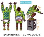 swag vector set rapper with... | Shutterstock .eps vector #1279190476