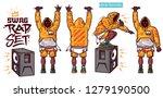 swag vector set   rapper with... | Shutterstock .eps vector #1279190500