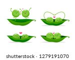 two peas in a pod. vector... | Shutterstock .eps vector #1279191070