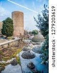 an old hamam in icherisheher...   Shutterstock . vector #1279203619