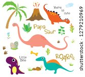 adorable dinosaurs isolated on... | Shutterstock .eps vector #1279210969