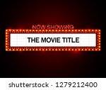 theater sign.cinema sign.las... | Shutterstock .eps vector #1279212400