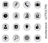 finance and business icons.... | Shutterstock . vector #127921790