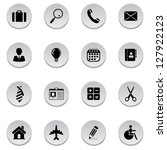 business icons. vector version... | Shutterstock . vector #127922123