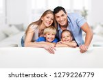 beautiful smiling family in... | Shutterstock . vector #1279226779