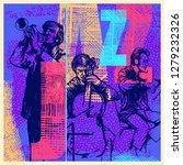 jazz music.  design cd cover or ...   Shutterstock .eps vector #1279232326