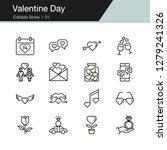 valentine day icons. modern...