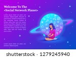 """welcome to the """"social network...   Shutterstock .eps vector #1279245940"""
