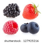 raspberry  strawberry ... | Shutterstock . vector #127925216