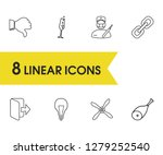 package icons set with surgery  ...