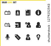 work icons set with sale ... | Shutterstock . vector #1279252543