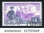 spain   circa 1975  stamp... | Shutterstock . vector #127925669