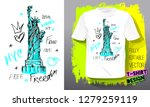 new york city american liberty... | Shutterstock .eps vector #1279259119